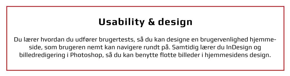 Usability og Adobe