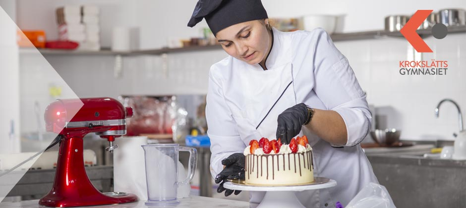 Bageri och konditori på Krokslättsgymnasiet