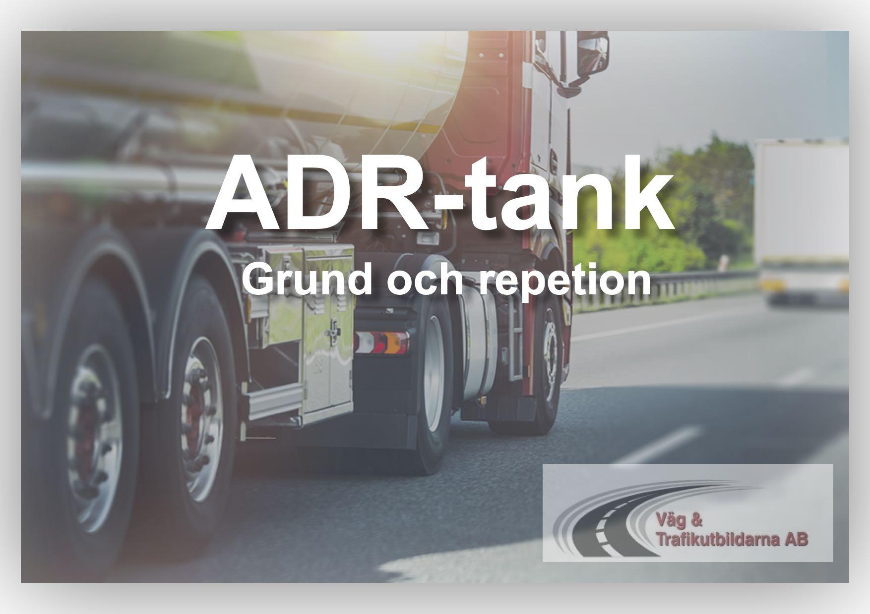 ADR Tankutbildning är ett krav för dig som kör tankar med en volym över 1000 liter