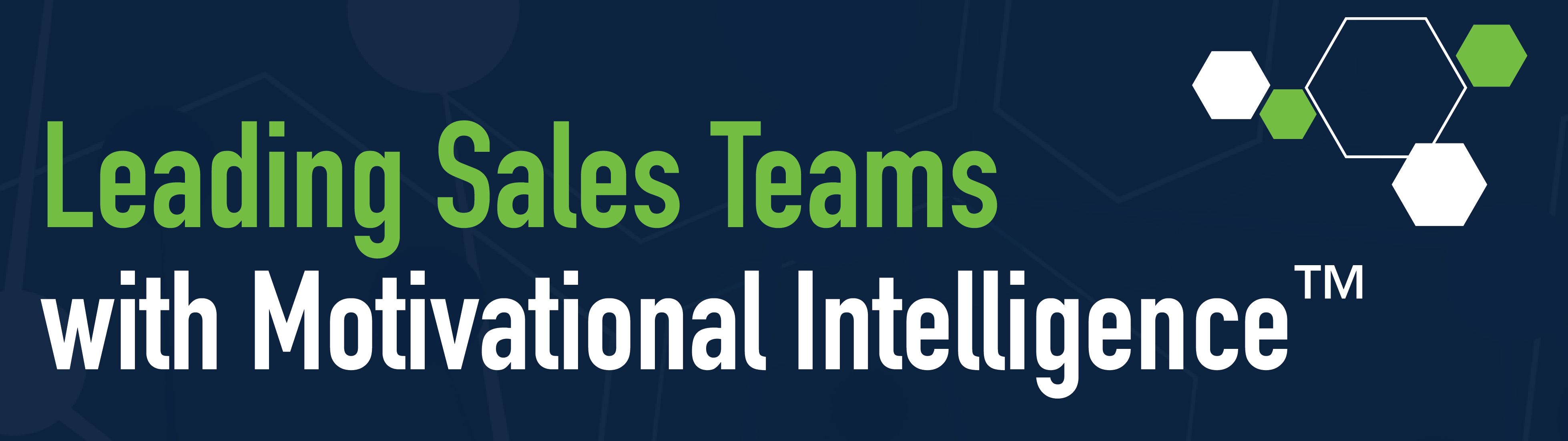 Leading Sales Teams with Motivational Intelligence™