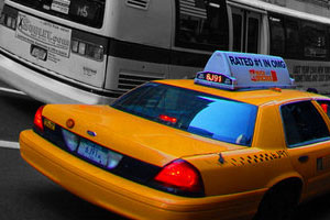 Studere i USA - yellow cab, New York