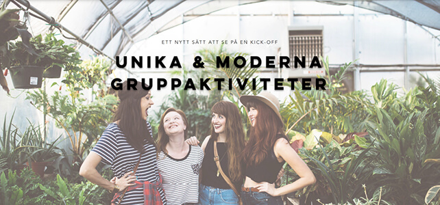 Aktiviteter i grupp - Kick It Off Event