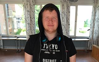 Manfred på Nils Holgerssongymnasiet
