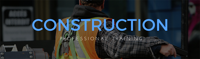 Construction workers engaged in construction training