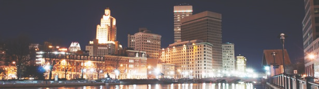 Providence, Rhode Island By Night